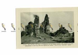 Polonnaruwa-Ruins-Ceylon-Sri-Lanka-Book-Illustration-c1920