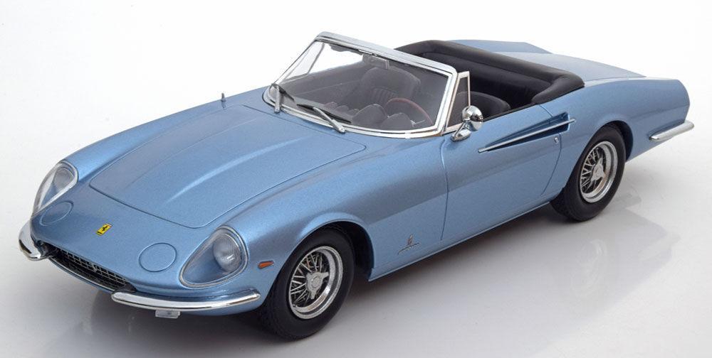 KK SCALmodellllerLER 1966 Ferrari 365 California Spyder blå LE of 750pcs 1 18 New