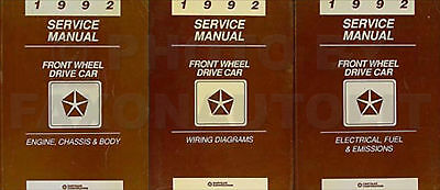 92 1992 Dodge Dynasty owners manual