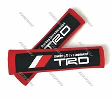 2PCS TRD Red Soft Fabric Car Seat Belt Cover Shoulder Cushion Pads For TOYOTA