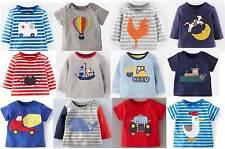 Mini Boden top baby boy's cotton applique t-shirt  new shirt tee applique logo