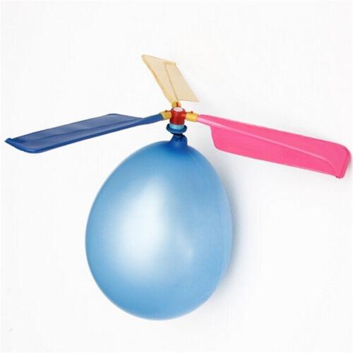 2Pcs Hélicoptère Ballons Volant Diy Vol Science Avion Enfants Toy Pa 3C