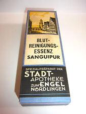 """Apothekerschachtel """"Sanguipur"""" Stadt-Apotheke Nördlingen-vintage pharmacy box #A"""