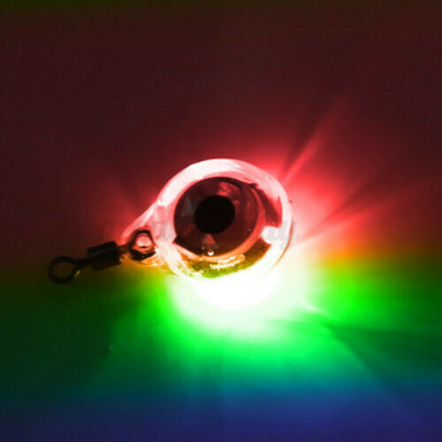 Fishing Light Underwater Round Shape Flashing Submersible Attracts Lure Practial