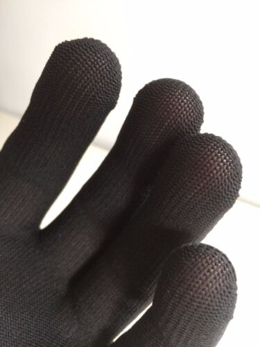 Black Guitar Glove Musician's Practice Glove 5PACK -M- COLOR Bass Glove