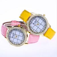 New  Women 's Lady Fashion Leather Band Analog Quartz Round Wrist Watch Watches