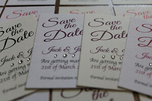 50-Save-The-Date-Magnetic-Cards-and-Envelopes-Wedding-Magnet-Invite-FREE-POST