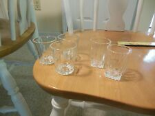 Vintage Set of 5 Federal Liqueur Shot Cordial Whiskey Collectible Glasses Marked