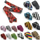 Fashion Men Stripe Plaid Tie Jacquard Woven Women Silk Suits Skinny Ties Necktie