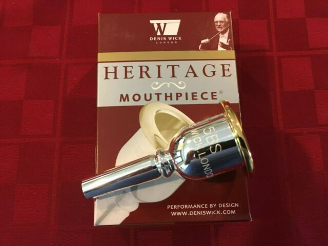 Genuine Denis Wick 4BS Small Shank Silver Trombone Mouthpiece NEW