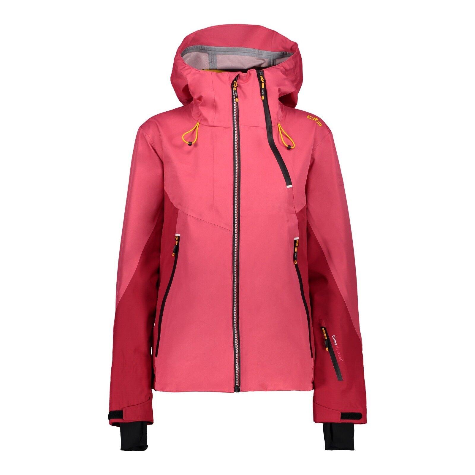 CMP Skijacke 38W0866 Damen damen Jacket Fix Hood 3 Layer PFC free Freeride