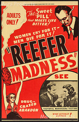 Reefer Madness 1936 Movie Poster Vintage Style Print 20x30