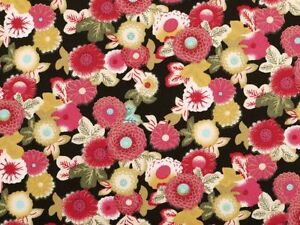 Skirts /& Blouses 3col Summerly 100/% cotton fabric for Dresses floral pattern