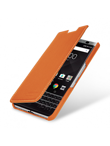 sports shoes b8566 658d2 Details about TETDED Premium Leather Case for BLACKBERRY KEYOne Dijon 2  (LC: Orange)