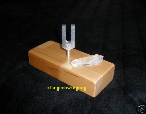 Kristall Stimmgabel Bergkristall Stimmgabelständer