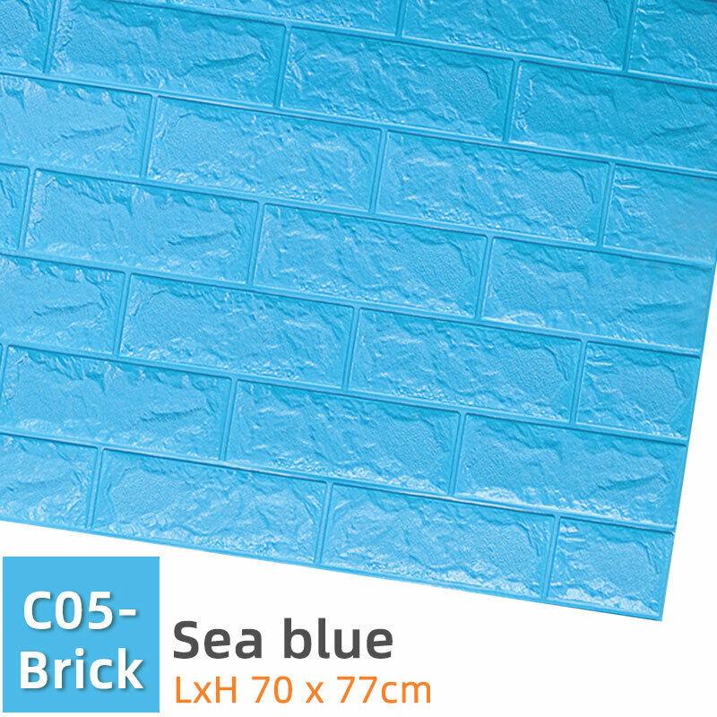 3D Blue Sea Roll Wave 8959 Wallpaper Decal Dercor Home Kids Nursery Mural Home