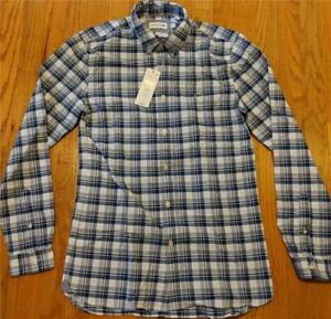 554bfd19 Mens Lacoste Checked LS Button Up Woven Shirt Marino Blue 38 Small ...