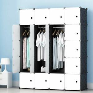 Portable Wardrobe for Hanging Clothes, Armoire, Modular ...
