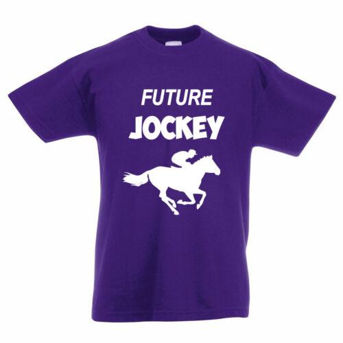 équestre Nouveauté Enfants T-Shirt à thème Future JOCKEY-chevaux RACING