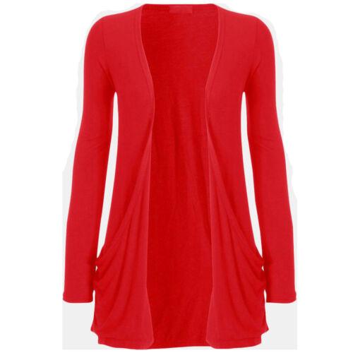 New Ladies PLUS SIZE Pocket Long Sleeve Cardigan Womens Big Top*Cardigan