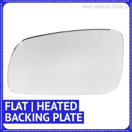 Placa Mano izquierda del lado del pasajero para VW Bora 98-05 Espejo Plano Calefactado Ala Cristal