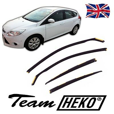 Tinted Only for the 5 Doors Model Front /& Rear Heko WD24288-12857 Full Set of 4 Heko Wind Deflectors