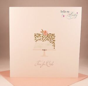 Details about Pretty BIRTHDAY CAKE Birthday Card - Wife Girlfriend Mother  Daughter Sister