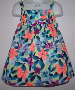Gymboree Dress 2T 3T Sunny Safari Striped Ruffle Buttons NWT Coral Aqua