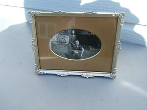 Picture-frame-gilt-vintage-8-034-x-6-034-20cm-x-15cm-has-postcard-induced-ARCO