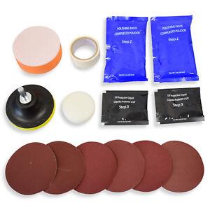 Frontscheinwerfer-Reparatur-Satz-fuer-2-Scheinwerfer-Aufbereitung-Kit-Politur-Set