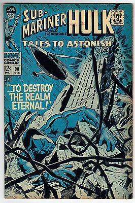 Tales to Astonish 98 (12/67) FN/VF Condition Hulk, Sub-Mariner Appearances