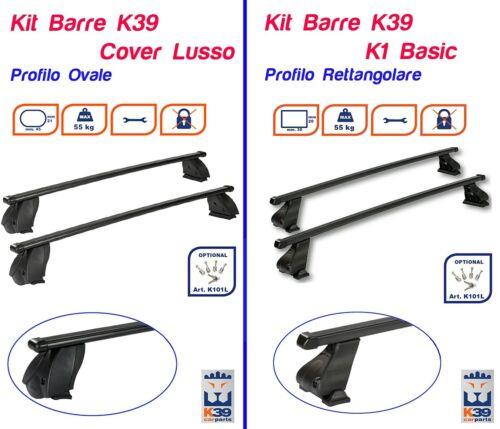Barre Portatutto Portapacchi OPEL CORSA 1993/>2003 3//5 PORTE K39 RETTANGOLARI