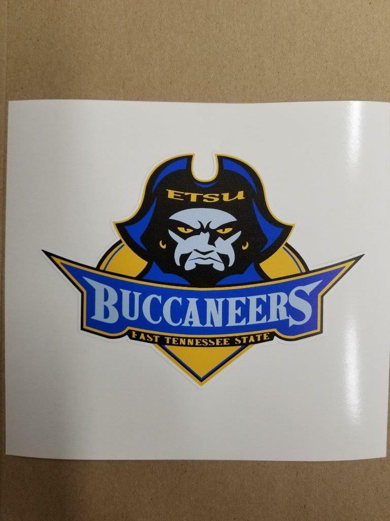 East Tennessee State Buccanerrs Cornhole board or vehicle window decal(s)ET2