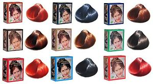 Herbul Henna Natural Hair Dyes 6x10g Henna Powder Dark Brown Black