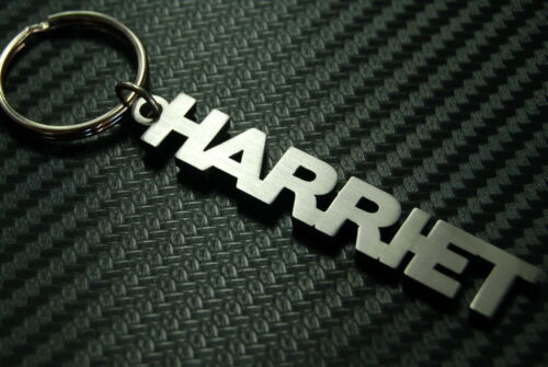 HARRIET Personalised Name Keyring Keychain Key Fob Bespoke Stainless Steel Gift
