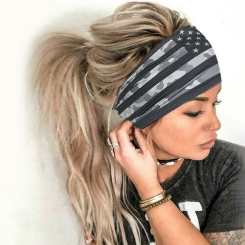 UK Women Wide Sports Yoga Headband Stretch Hairband Elastic Ladies Hair Turban