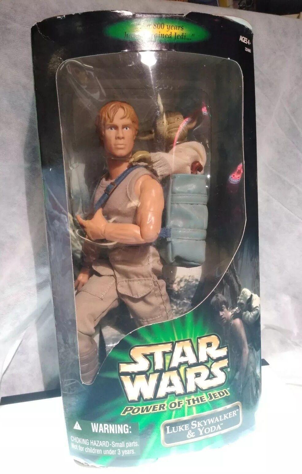 Star Wars Luke Skywalker & Yoda power of the Jedi Hasbro 2001 new