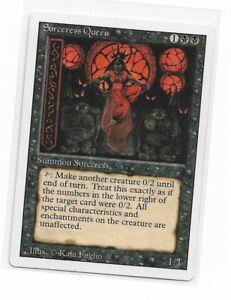 Magic the gathering ~ MTG ~ 1x Sorceress Queen ~ Revised ~ LP