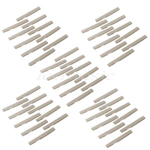 50-Pcs-Ivory-Acoustic-Guitar-Plastic-Fully-Compensated-Saddle