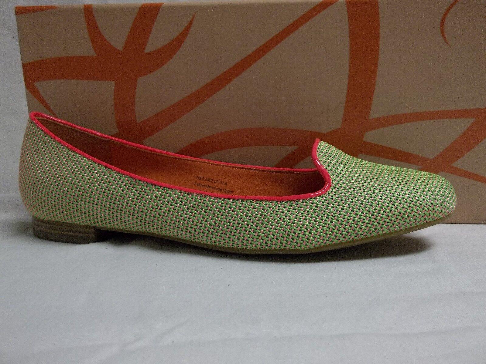 Via Spiga Größe 6.5 M Edina Green Pink Flats NEU Damenschuhe Schuhes