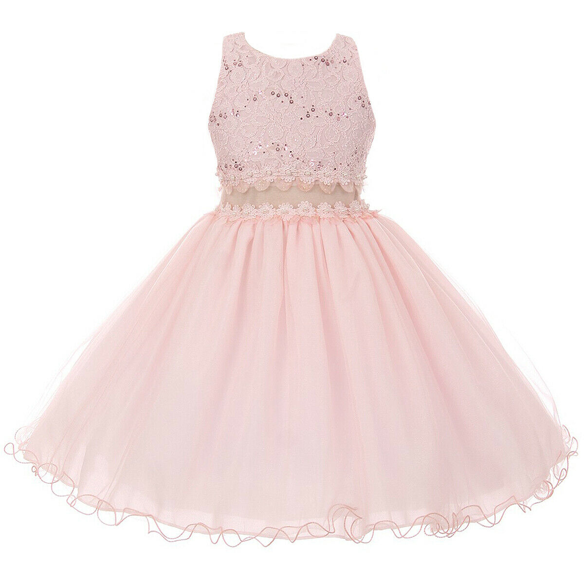 Blush Flower Girl Dresses for Special Occasions Party Bridesmaid Birthday