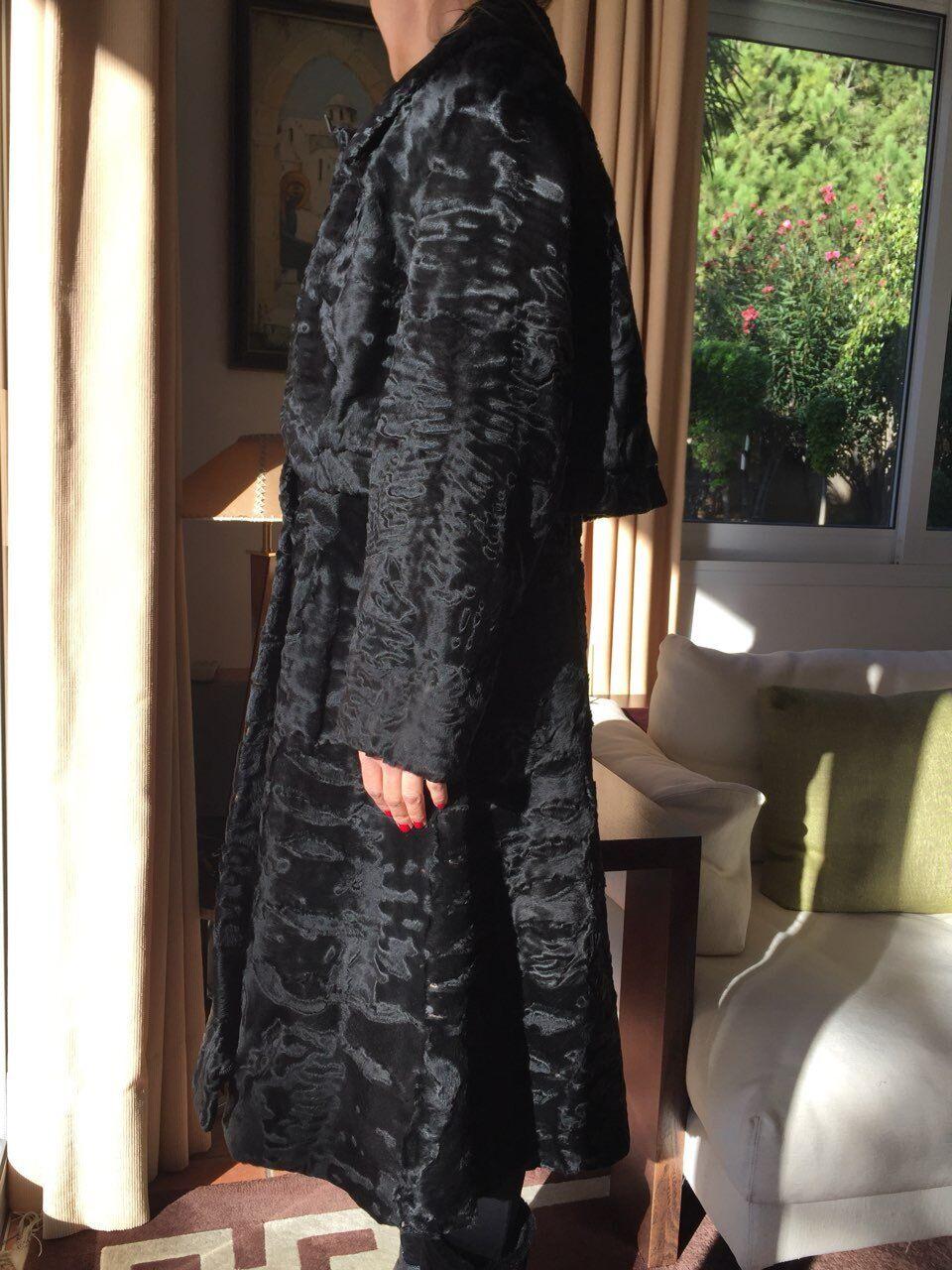 Hartnell designer coat/fur SZ SMALL MEDIUM - image 5