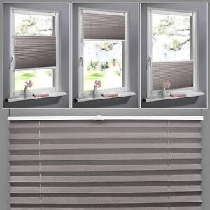 100 130cm jalousie klemmfix plissee ohne bohren faltrollo. Black Bedroom Furniture Sets. Home Design Ideas