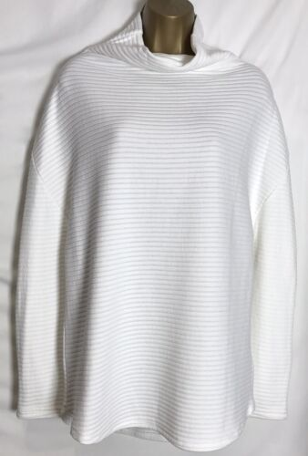 M/&S Ivory Ribbed Cotton Mix Jumper Size 12-24 d ms-212s