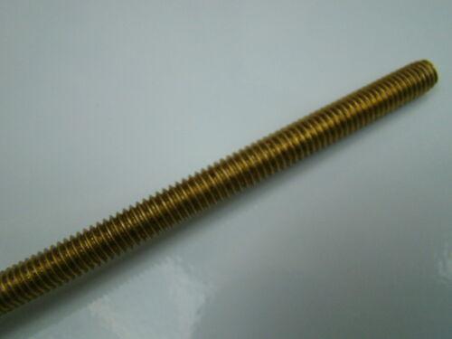 Qty x 1 Allthread M6 6mm x 200mm Brass Threaded Rod
