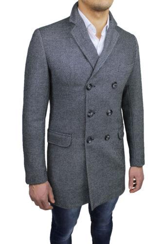 Elegante Doppiopetto Uomo Giacca Italy Sartoriale Soprabito Made Casual Cappotto Ct4q6C