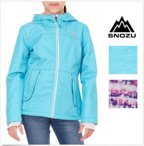 NWT-Snozu-Girls-Softshell-Fleece-Lined-Hooded-Jacket-Size-amp-Color-Variety