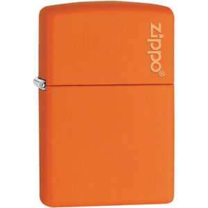 Zippo-Logo-Matte-Pocket-Lighter-Orange