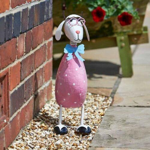 Rose Dotty mouton jardin d/'ornement Métal Extérieur Coloré Peint à La Main Nouveauté