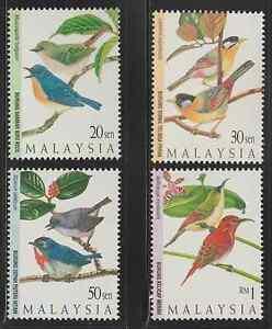 (207)MALAYSIA 1997 HIGHLAND BIRDS SET FRESH MNH